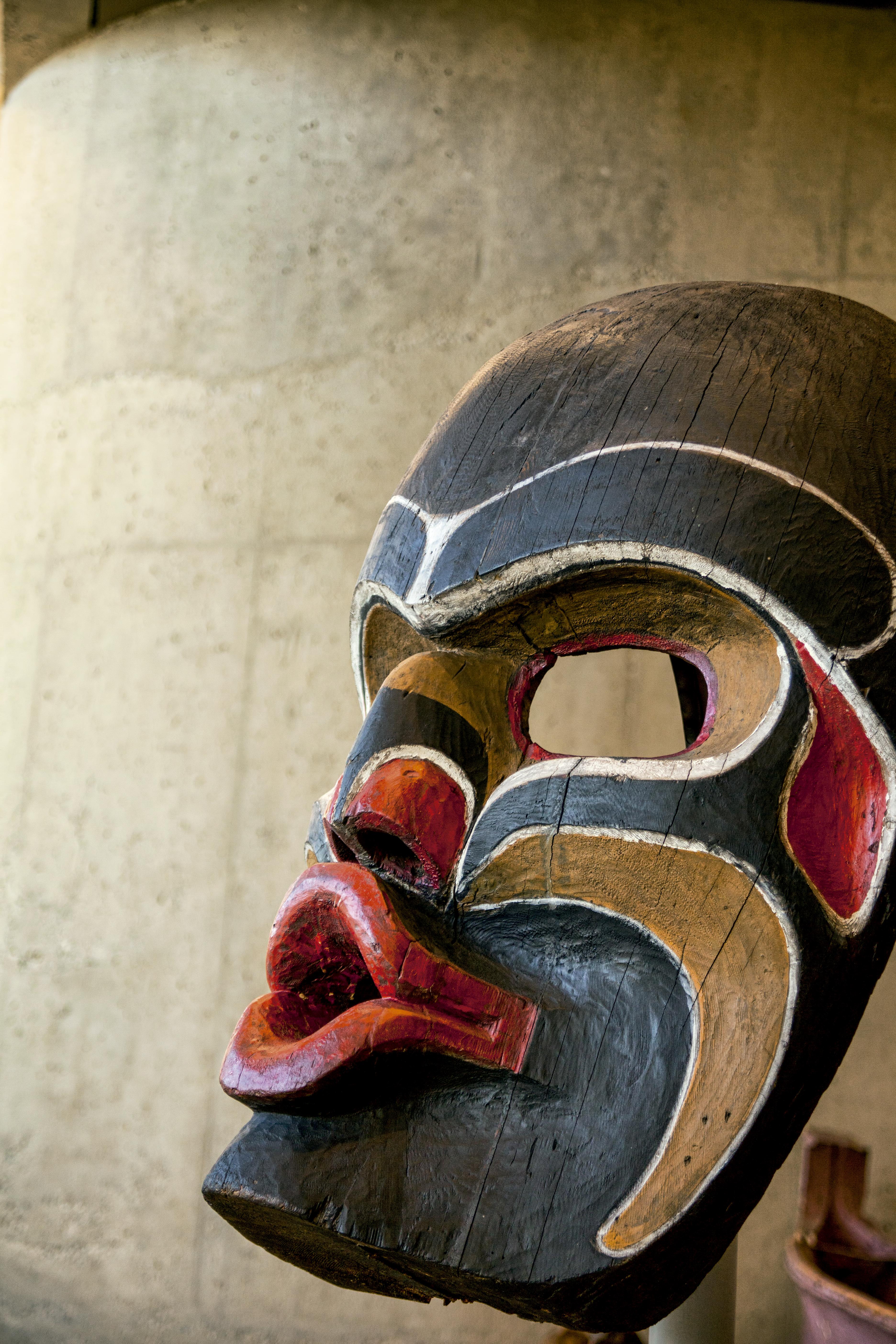 Máscara do Museu de Antropologia em Vancouver, Canadá