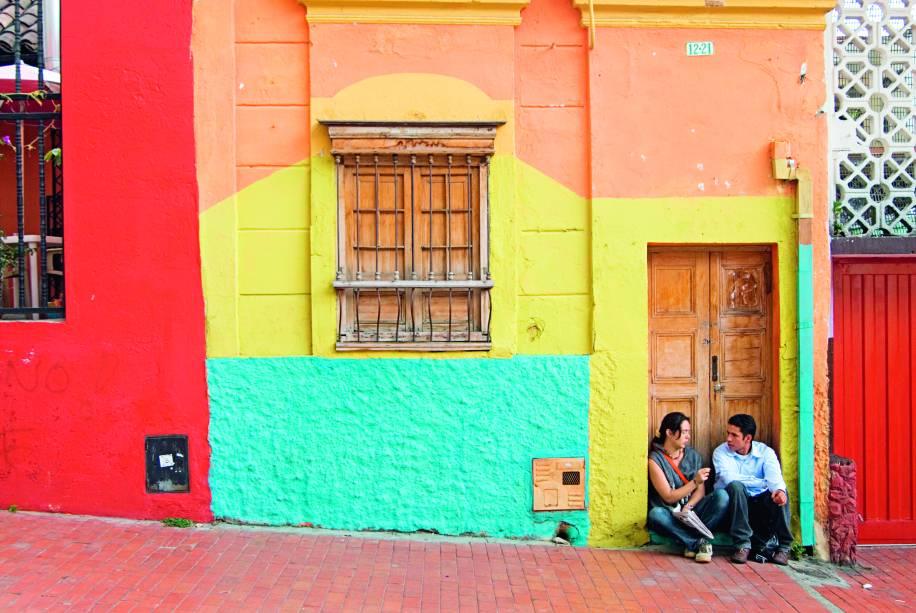 Algumas demãos de tinta em La Candelaria, o centro histórico de Bogotá
