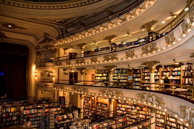 Livraria El Ateneo, em Buenos Aires, Argentina