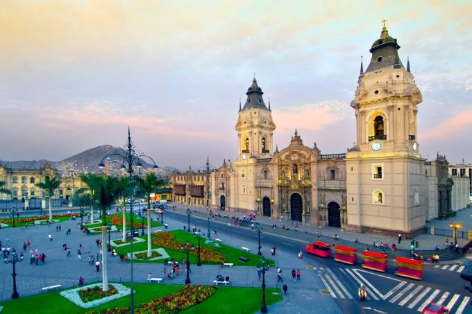 Plaza de Armas, em Lima