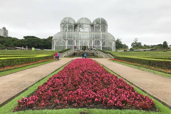 Flores no Jardim Botânico de Curitiba, Paraná, Brasil
