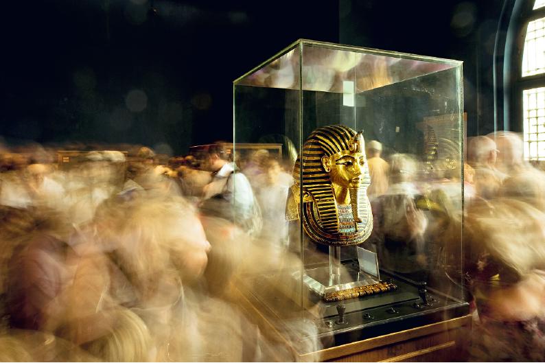 Rei Tut no Museu Egípcio, Cairo, Egito