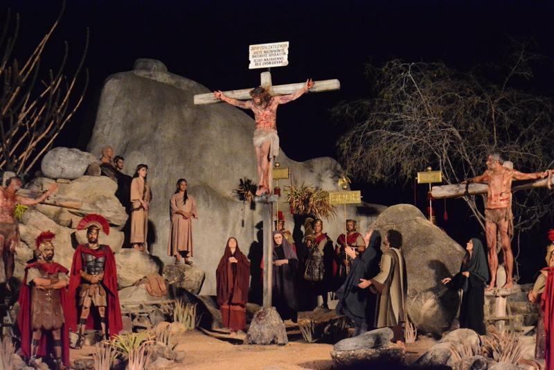 Cena do espetáculo da Paixão de Cristo em Nova Jerusalém, Pernambuco, em 2017