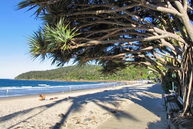 Praia em Noosa, na Australia