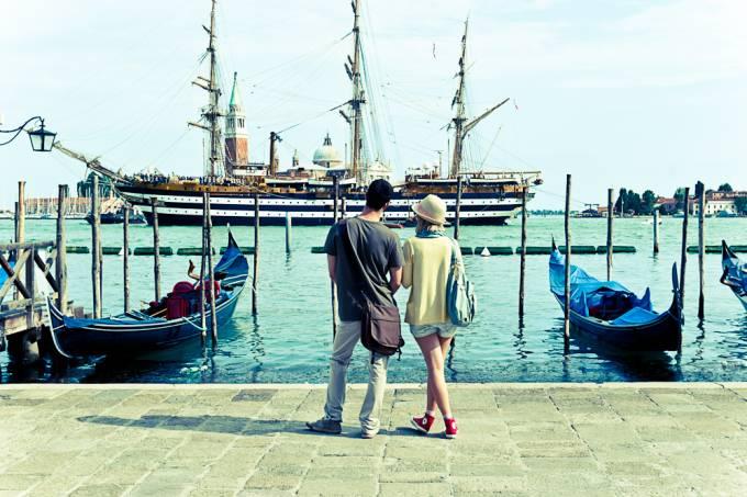 Casal em Veneza, Itália