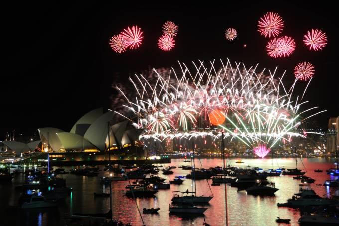 Ano novo Sydney Harbour Austrália