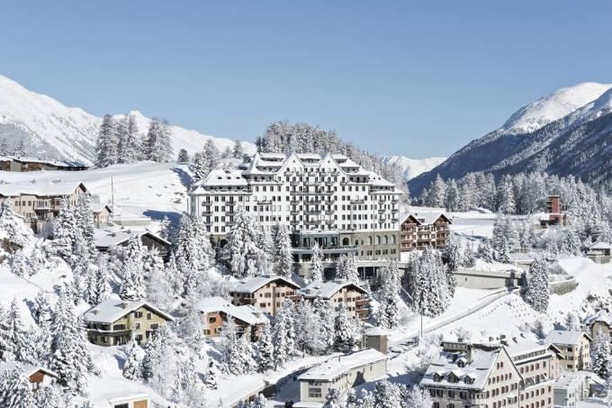 Estação de esqui de St. Moritz, nos Alpes da Suíça