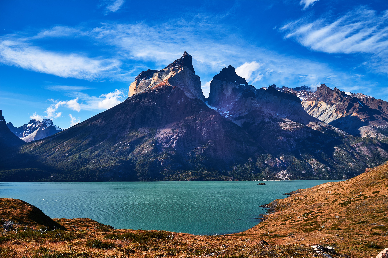 Vista do Parque Nacional Torres del Paine, na Patagônia chilena