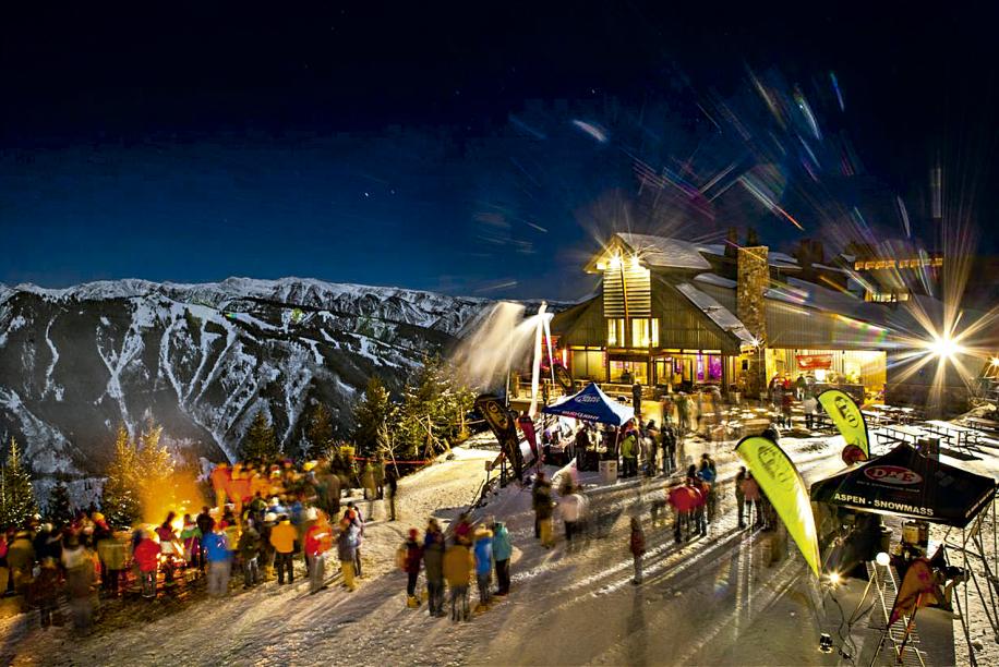 Festinha no topo da montanha