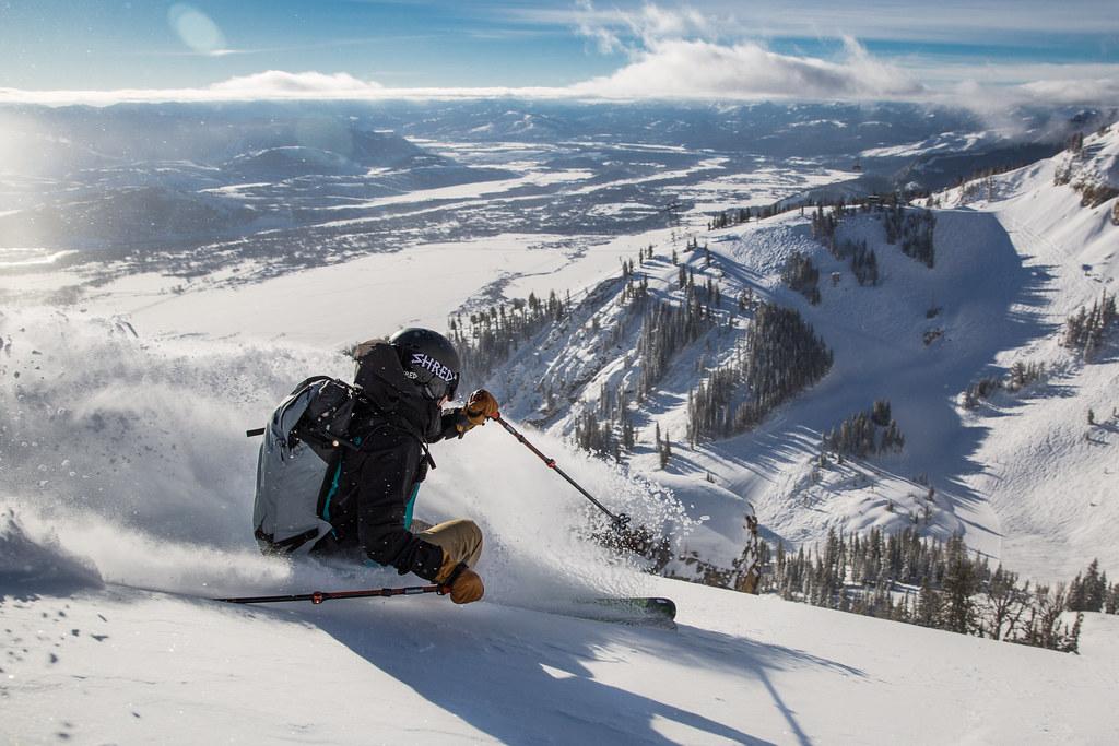 Jackson Hole tem opções de esqui para desde os iniciantes até os avançados