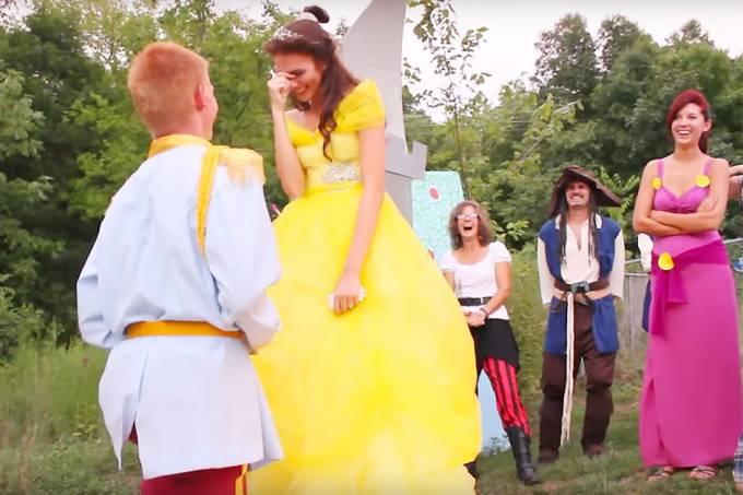Pedido de casamento Disney-