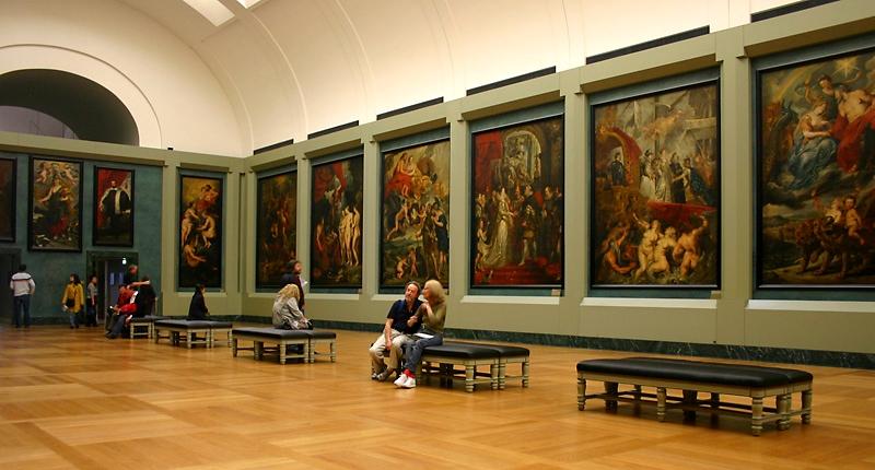 Sala 18 do Museu do Louvre, em Paris