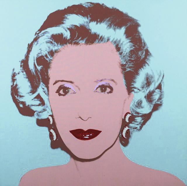 Amalia Fortabat por Andy Warhol