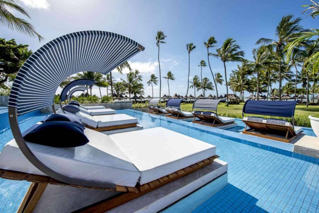 A piscina do Tivoli Ecoresort, estrela da Praia do Forte. Crédito: