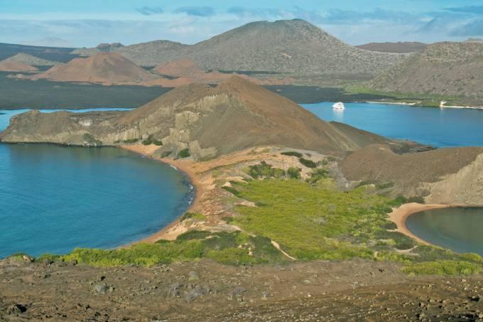 Vista aérea das Ilhas Galápagos