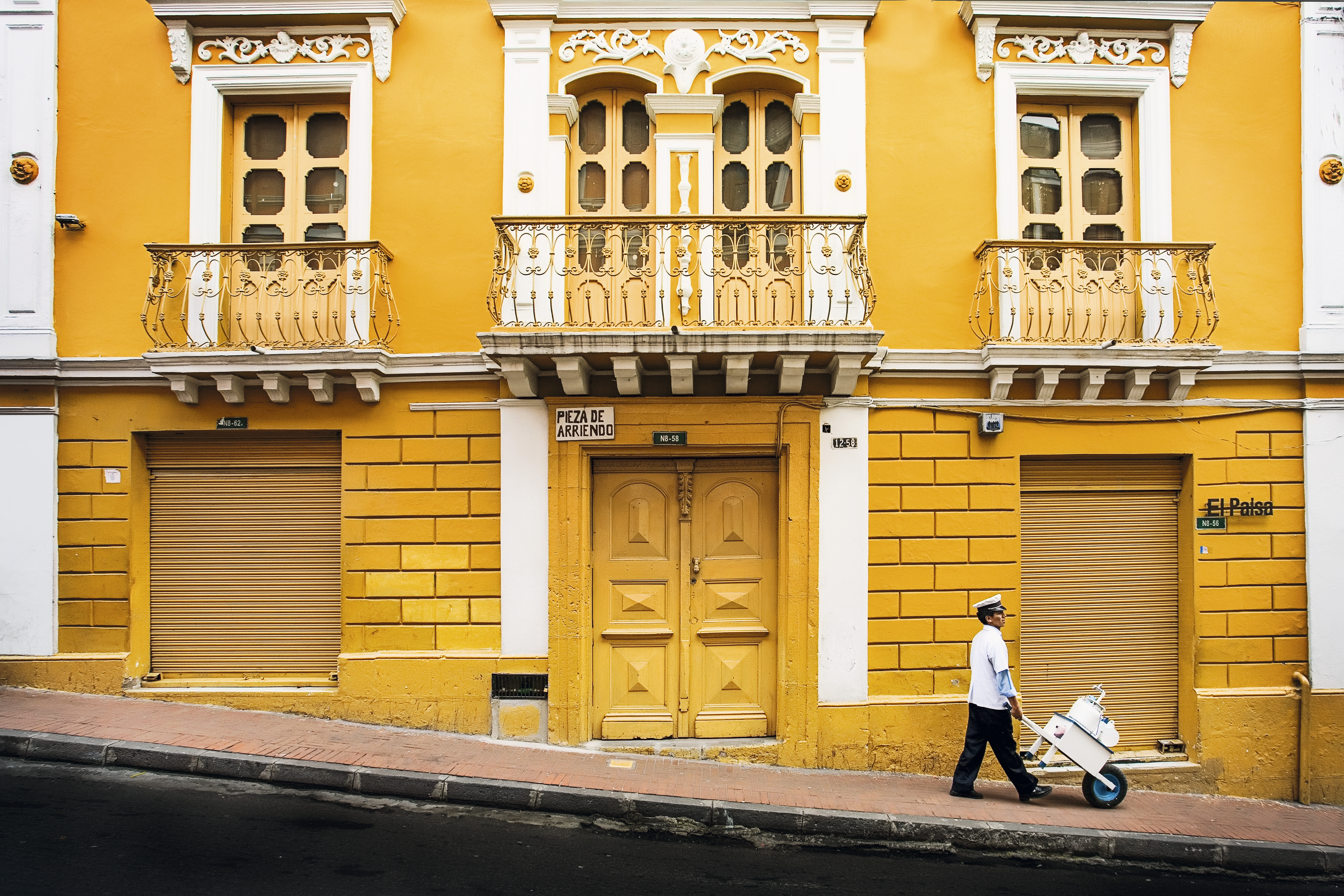 Rua histórica de Quito