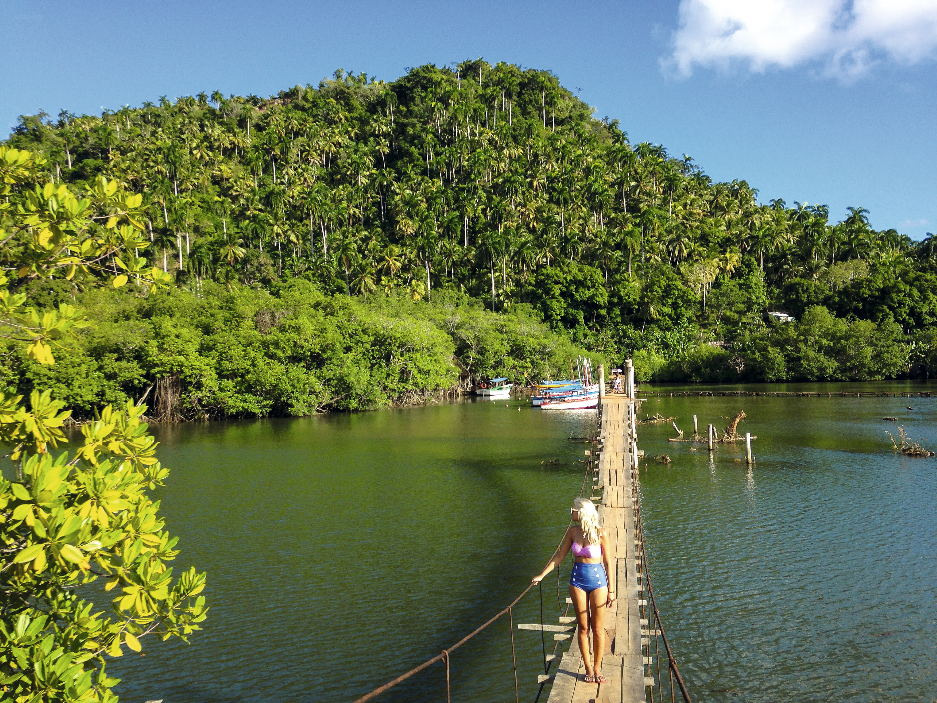 Ponte sobre o Rio Miel, em Baracoa, Cuba