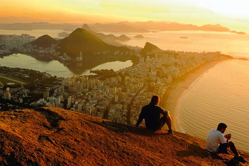 Por do sol na pedra bonita, Rio de Janeiro (RJ)