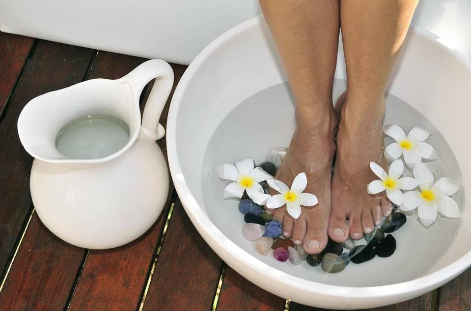 O spa  da Pousada Zé Maria oferece tratamentos como escalda-pés com pedras e flores