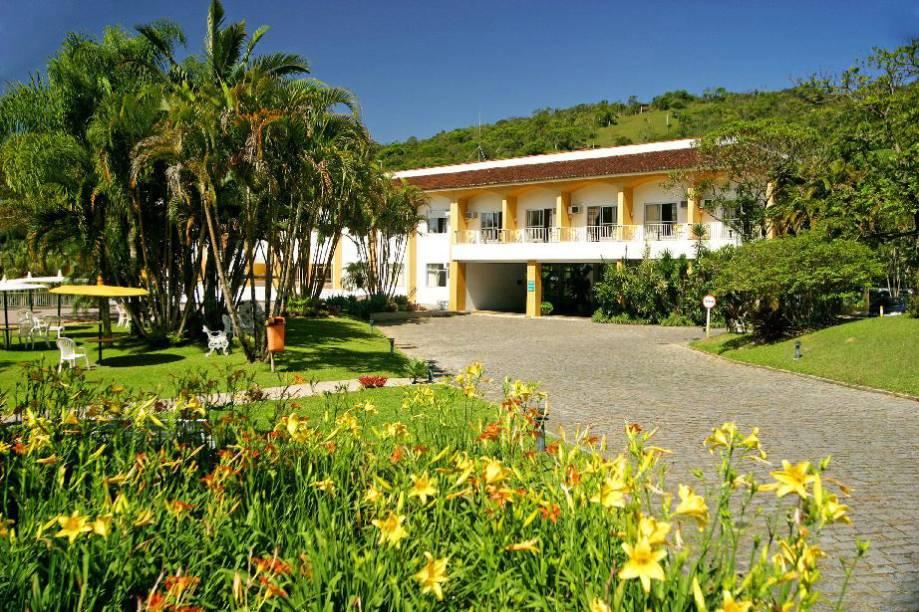 Jardim do Plaza Caldas da Imperatriz Resort & Spa, em Santo Amaro da Imperatriz, Santa Catarina