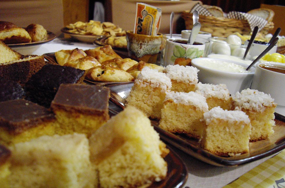 Café colonial do Opa's Kaffeehaus, em Nova Petrópolis (RS)