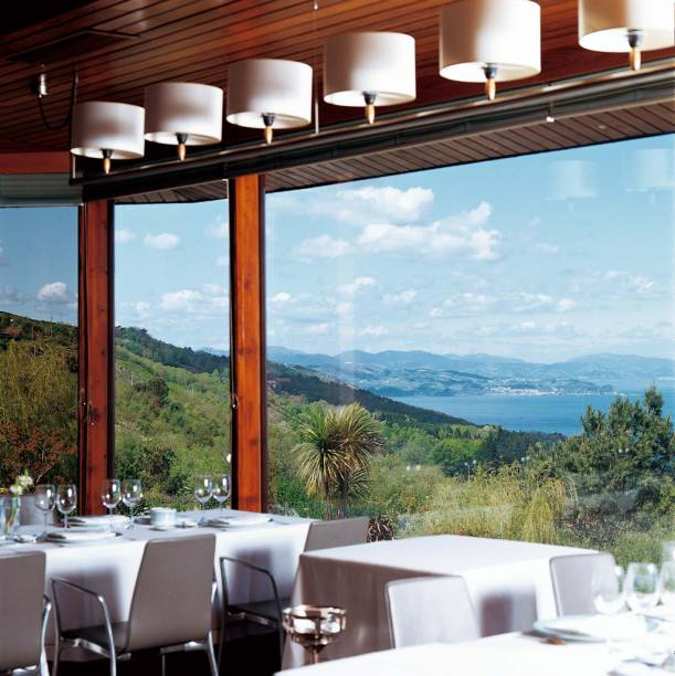 Restaurante Akelarre com vista para praia de San Sebastián