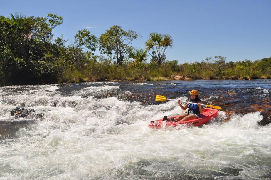 Caiaque no <strong>Rio Novo</strong>, Parque Estadual do Jalapão, Tocantins