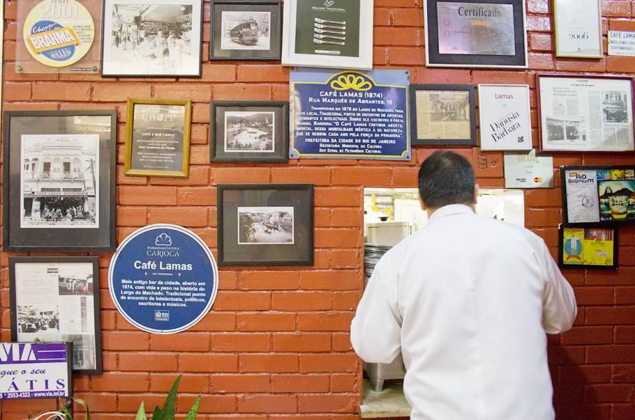 Interior do restaurante Lamas, no Flamengo.