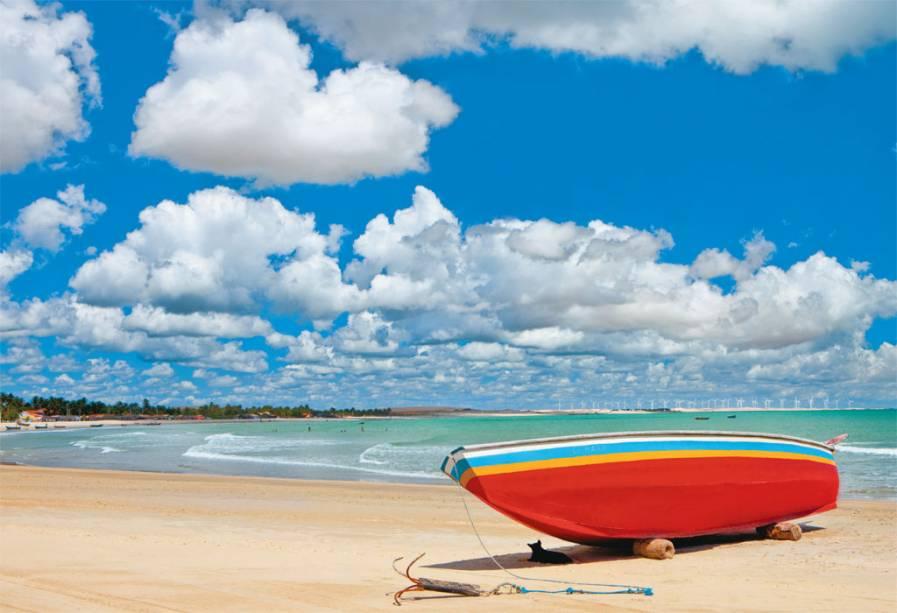 Sol poente na quente Praia do Curral