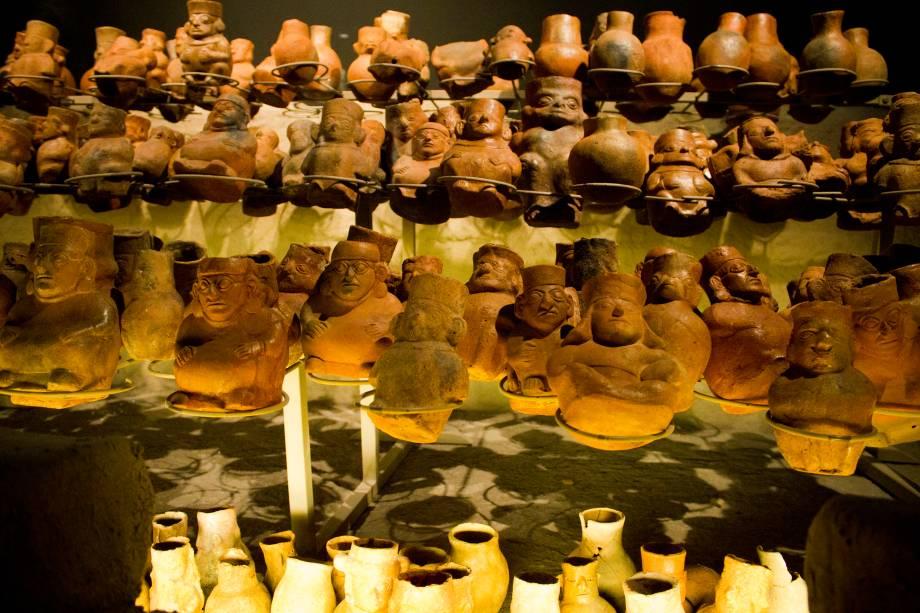 Acervo do Museo Tumbas Reales de Sipán, em Lambayeque, próximo de Chiclayo, norte do Peru