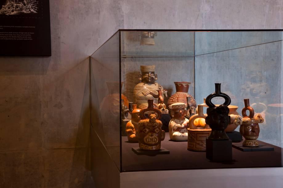 Acervo do Museo Cao, no complexo arqueológico El Brujo