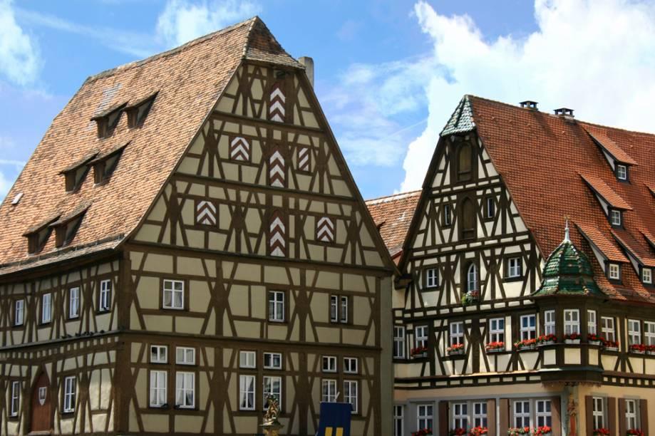 Construções típicas da Alemanha na cidade de Rotemburgo