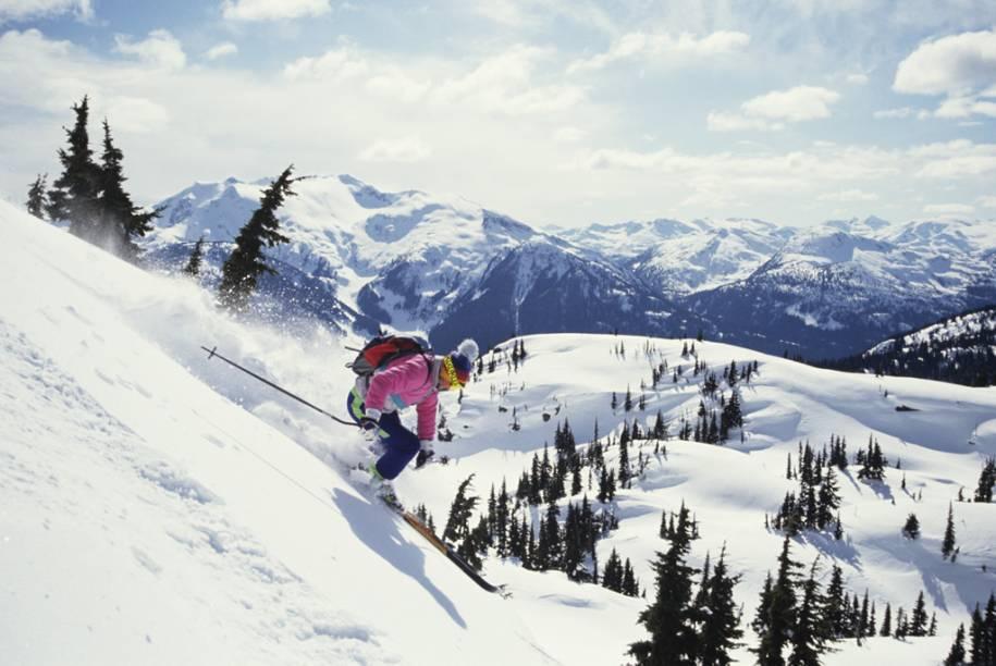Whistler se orgulha de ter a maior área esquiável da América do Norte, com 200 pistas