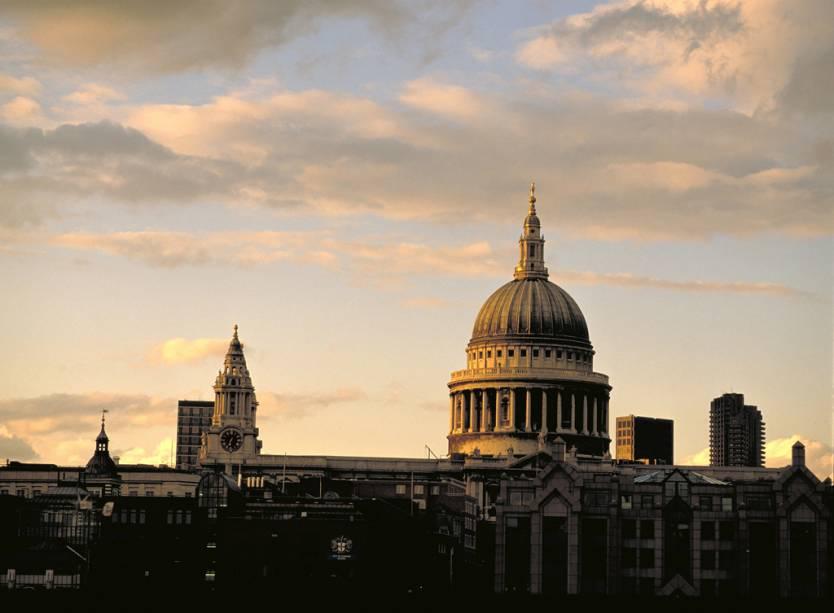 Catedral de St. Paul é a maior igreja de Londres e foi palco para o memorável casamento de Diana e Charles