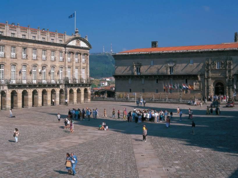 O Hotel dos Reis Católicos, em Santiago de Compostela