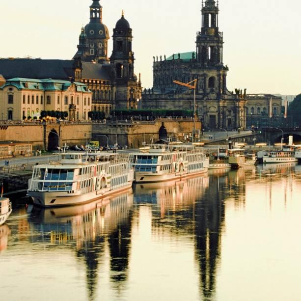 Vista do Rio Elba, em Dresden