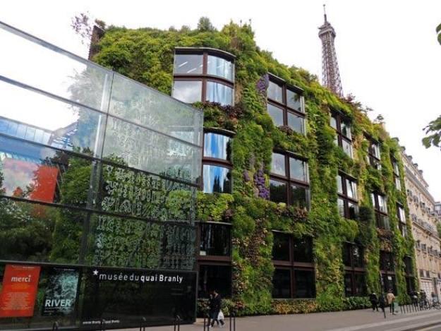 Jardim vertical de Patrick Blanc no Musée du Quai Branly