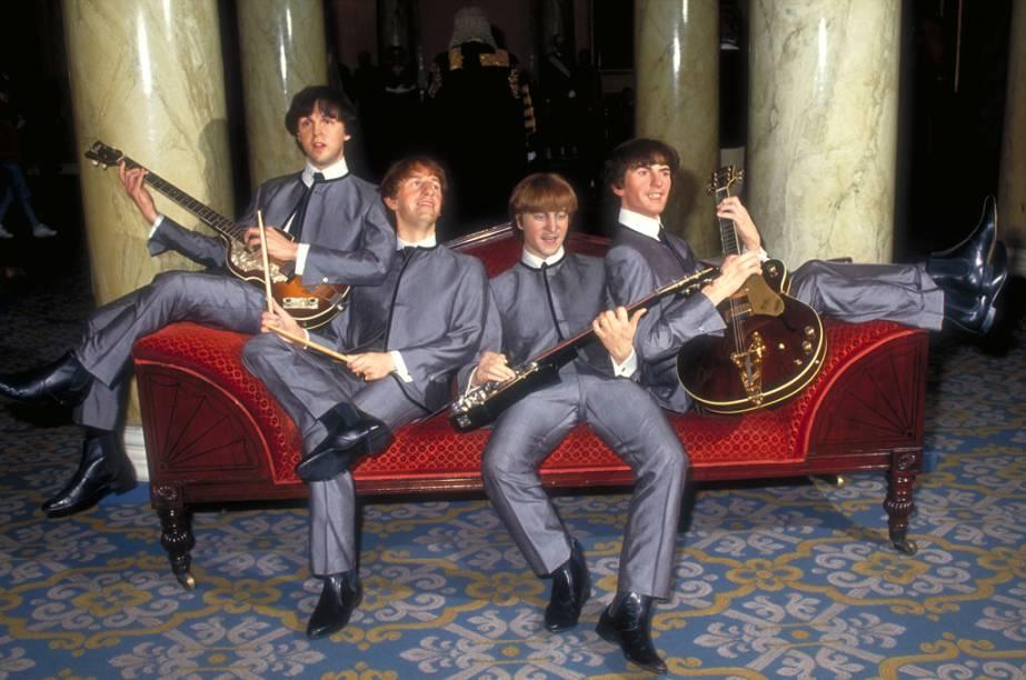 Estátuas dos Beatles expostas no museu de cera Madame Tussauds