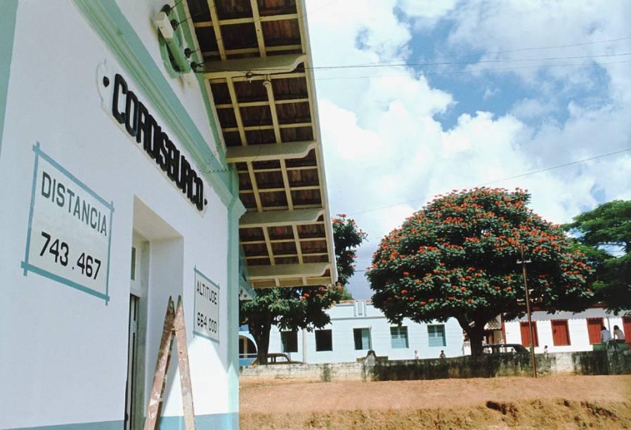 Estação ferroviária de Cordisburgo, onde nasceu Guimarães Rosa e morou até os 9 anos de idade