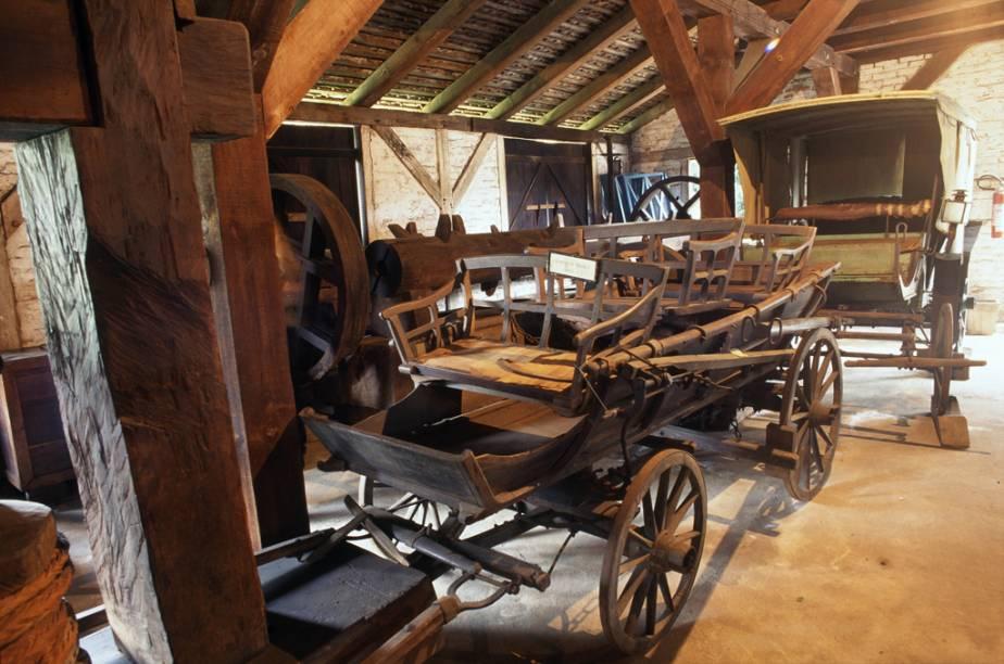 Carroças expostas no Museu Nacional de Imigração e Colonização