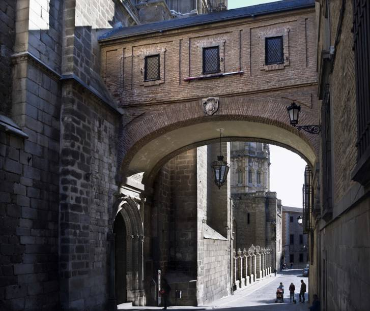 O Arco do Palácio Arquiepiscopal, em Toledo