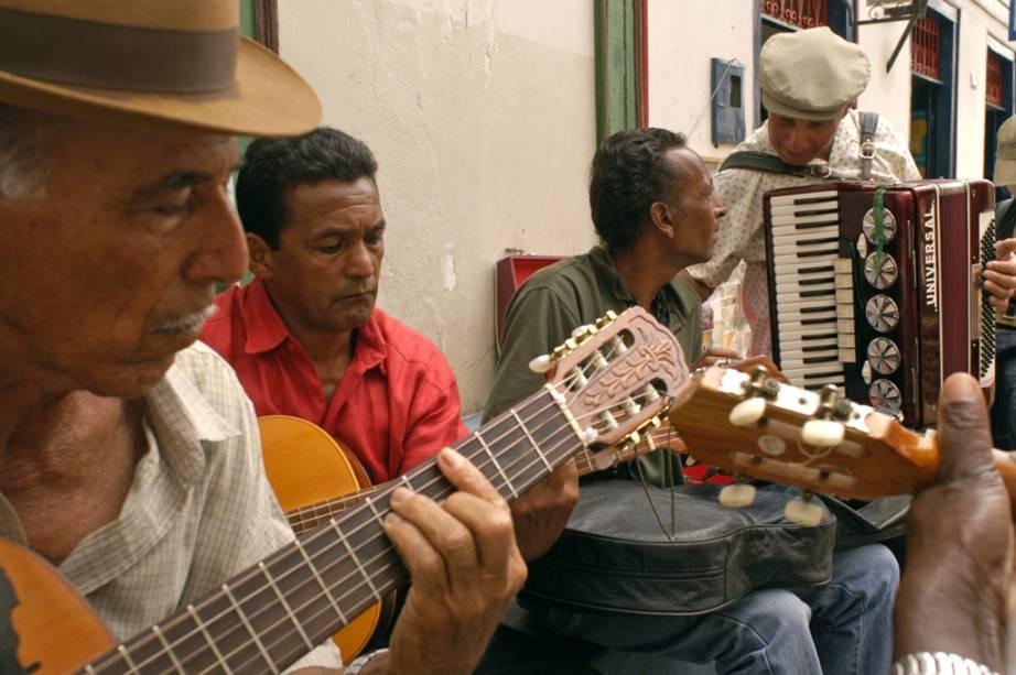 Músicos tocando em Diamantina