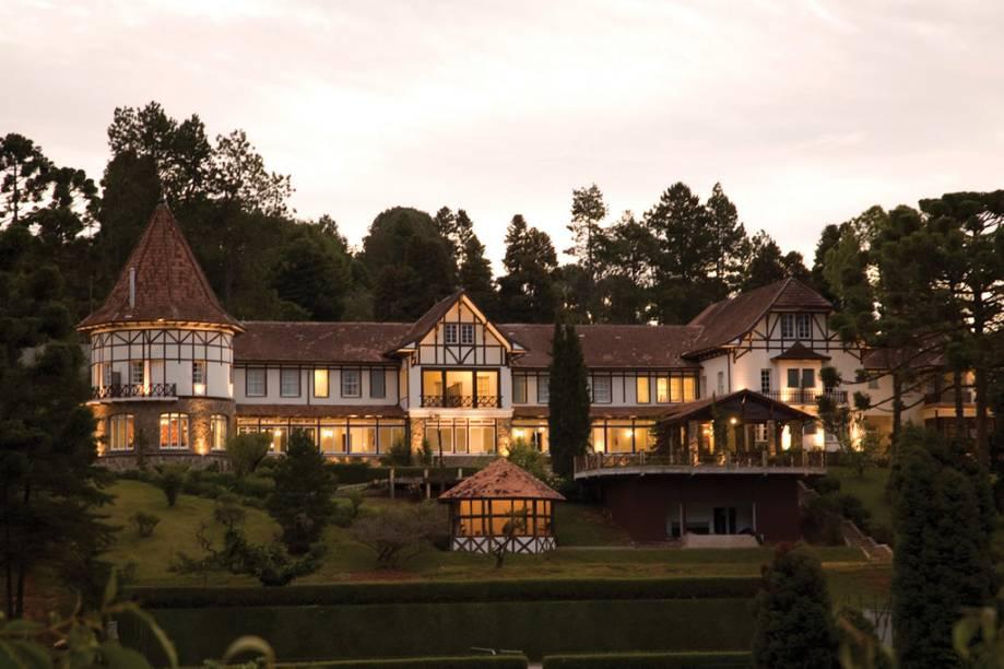 Hotel Vila Inglesa, uma das construções de inspiração alpina na cidade