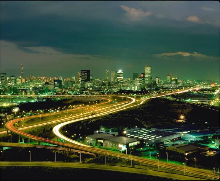 Vista aérea de Johannesburgo, a capital econômica da África do Sul, onde vivem 8 milhões de pessoas