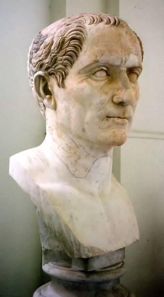 A cabeça colossal do imperador Júlio César é um dos destaques da exposiçãoRoma – A Vida e os Imperadores, no Masp, em São Paulo