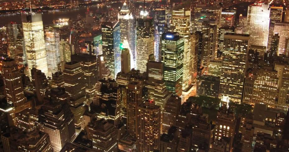"""Vista da cidade de Nova York. Ela é considerada um dos principais destinos dos Estados Unidos - e carrega o singelo apelido de """"cidade que nunca dorme"""""""