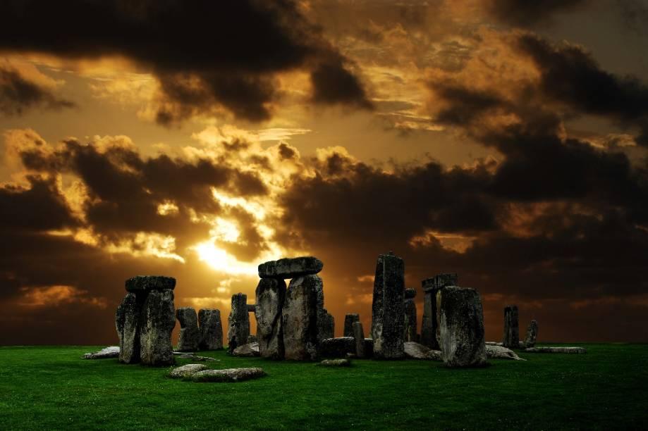 Formações de rochas em Stonehenge