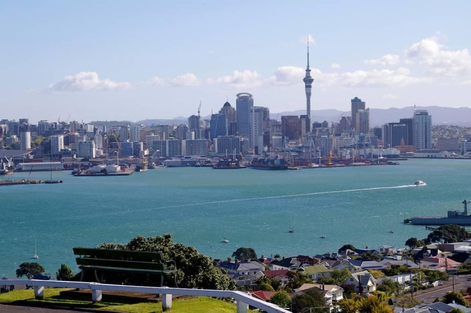 Vista de Auckland a partir do Monte Victoria