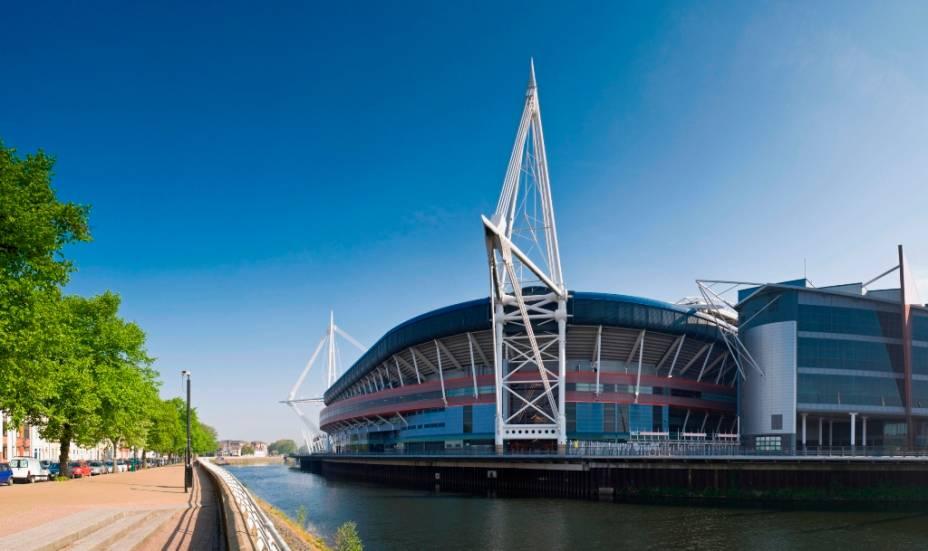 O moderno Millenium Stadium não só abriga grandes eventos e shows, mas também partidas das seleções nacionais de Gales de rúgby e futebol
