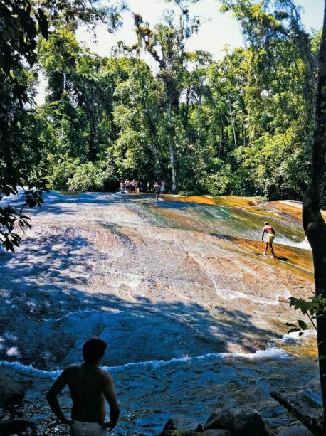 A divertida Cachoeira do Tobogã